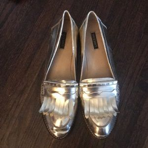 Shoe Mint Gold Loafers
